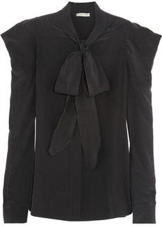 Bottega Veneta Silk crepe de chine pussy-bow blouse
