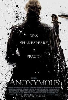 Anonymous Movie Poster 24x36 was shakespeare a fraud