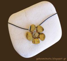 Χειροποίητα κοσμήματα: Χειροποίητο κολιέ μαργαρίτα
