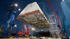 The USS Zumwalt Deck Looks Like a Part of an Imperial Star Destroyer