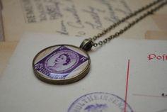Vintage Stamp Necklace