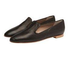 Sherbet Black Italian slipper loafers