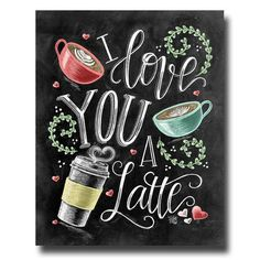 Te amo te quiero un café con leche muestra de café por TheWhiteLime