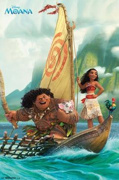 Let the Moana - Group from Disney transport you to a world of fairy tales. Travel to a land of fantasy with this incredible poster from the Moana collection. Disney Movies, Disney Pixar, Moana Disney, Disney Animation, Disney Mickey, Moana Poster, Poster Wall, Poster Prints, Groups Poster
