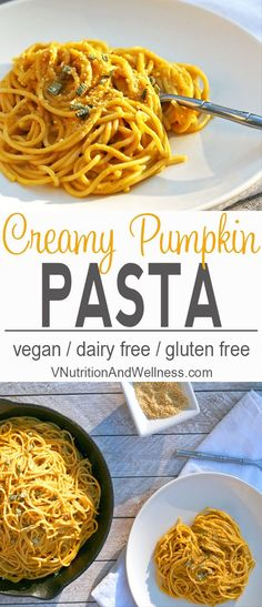 Vegan Pumpkin Pasta This Vegan Pumpkin Pasta is the perfect fall dinner The sauce highlights pumpkin while being rich and creamy without the dairy This hearty pasta will. Vegan Dinner Recipes, Vegan Dinners, Fall Recipes, Pasta Recipes, Vegetarian Recipes, Cooking Recipes, Autumn Recipes Vegan, Sauce Recipes, Cooking Ideas