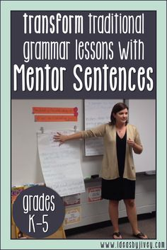 More and more teachers are discovering each day that teaching with mentor sentences is the perfect way to teach grammar and author's craft! Students will improve their writing and grammar understanding as they learn from the amazing authors of your favori 3rd Grade Writing, First Grade Reading, Third Grade, Fourth Grade, Mentor Sentences, Mentor Texts, Teaching Grammar, Teaching Writing, Teaching English
