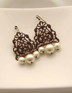 """Ajoure Earrings - probably $25 A LITTLE OVER 2"""""""