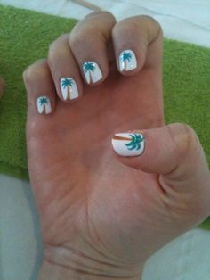 Palm Tree Nails - Fun For Summer :)
