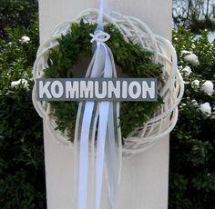 Dekoration - ♥♥♥ umdekorierbarer XL Kommunion Tauf Kranz ♥♥♥ - ein Designerstück von Sternenglanz-Clemens bei DaWanda