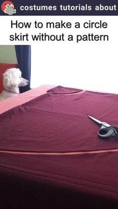 How to make a circle skirt without a pattern by mutsuko.mu.morisue