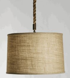 Drum Shade Light by Zentique: Dining Room, can do different fabric as well