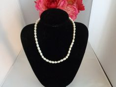 """Vintage Freshwater REAL Pearl Choker Necklace Measures 16-17"""" with a Silvertone clasp 20% percent off and Free Shipping to the United States. in the entire store."""