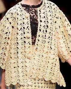 MyPicot Club | Crochet & Knitting Dolce and Gabbana.