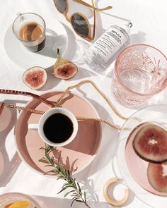 Coffee and Breakfast - Pink & White Tones Flat Lay Photography, Coffee Photography, Lifestyle Photography, Food Photography, Fashion Photography, Product Photography, Beige Aesthetic, Summer Aesthetic, Aesthetic Photo