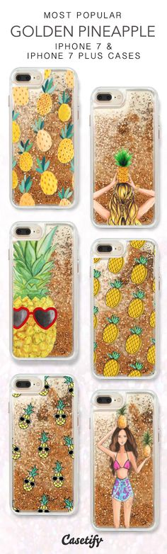 Most Popular Golden Pineapple iPhone 7 Cases Cool Cases, Cute Phone Cases, Iphone Phone Cases, Iphone 7 Plus Cases, Phone Covers, Amazing Phone Cases, Glitter Phone Cases, Cute Pineapple, Pineapple Girl
