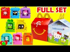 2016 Hello Sanrio McDonald's Happy Meal Toys Hello Kitty Full Set with Toy Genie. In this video, we take a look at all Hello Sanrio toys in this year's McDon. Hello Sanrio, Mcdonalds Toys, Full Set, Cool Toys, Girl Dolls, Vintage Toys, Kids Meals, 4th Of July, Hello Kitty