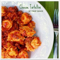 Chhese Tortellini w/ Meat Sauce