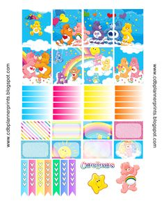 CDB Planner Prints: Care Bears