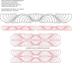 Thanks to Jessica at Digitech Design, for offering an exclusive line of Carla Barrett digitized quilting designs available now online.  Here are some of the first designs you can purchase:      For...