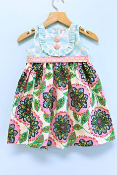 Girls Summer Dress   Playful Picnic dress  READY by LottieDaBaby, $59.00