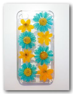 iPhone 4/4s case Resin with Real  Flower Pressed by Annysworkshop, $18.00