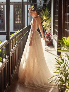 lahav couture fall 2018 bridal sheer long sleeves deep plunging v neck full beaded embellishment creame color romantic soft a line wedding dress open v back chapel train bv -- Galia Lahav Couture Fall 2018 Wedding Dresses Princess Wedding Dresses, Best Wedding Dresses, Bridal Dresses, Bridesmaid Dresses, Dress Wedding, Swarovski Wedding Dress, Dresses Dresses, Couture Dresses, Classic Wedding Dress