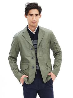 Olive Blazer Jacket