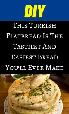 Turkish Recipes, Indian Food Recipes, Yummy Food, Tasty, Our Daily Bread, Easy Bread, Middle Eastern Recipes, Food For Thought, Cooking Recipes