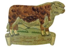 Livestock, Lion Sculpture, Objects, English, Sign, Rustic, Statue, Antiques, Wood