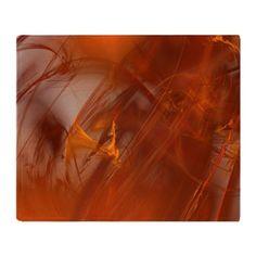 Orange Mist / Floating Rust Fractal Throw Blanket #sale
