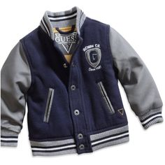 Amazon.com: GUESS Kids Baby Boy Prep Jacket (12-24M), NAVY (12M):... ($64) ❤ liked on Polyvore featuring kids, baby, baby boy, baby boy clothes and baby clothes
