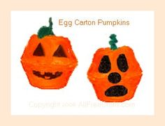 Egg Carton Pumpkins Halloween Art Project