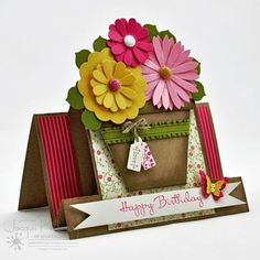 mini flower pot card - Buscar con Google