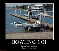 demotivational poster BOATING 101