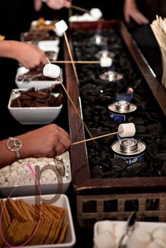 DIY wedding dessert bar smores bbq wedding backyard | so cute!