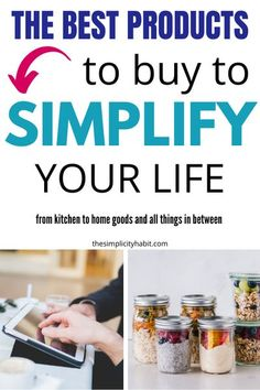 Products To Buy To Simplify Your Life in all areas. From essentials to buy for simplifying cooking, cleaning, and more. I share my top items I recommend to all my friends and family. #simplify #products #buy #best #musthave #home #kitchen #Lifestyle #essentials Life Organization, Organizing Life, Organized Mom, Love Your Home, Declutter Your Home, Grow Your Own Food, Frugal Tips, Kitchen On A Budget, Learning To Be