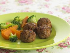 These are also delicious served with Annabel's hidden vegetable sauce or with steamed vegetables such as carrrots and broccoli.If meatballs fall apart while frying then try reducing the breadcrumbs or adding a bit of milk to moisten.