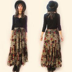 #90s #indian cotton #maxiskirt with drawstring waist, will fit a range of sizes. Now available in store or online. Link in bio to shop.  . #heytiger #shopheytiger #vintage #vintageshop #vintagelove #vintagestyle #vintagefashion #ethnic #tribal #boho #hippie #gypsy #grunge #africanprint #blockprint #ooak #onlineshop #springfashion #style #fashion #etsy #etsyshop #etsyseller #etsyvintage #festivalfashion #wtw #vintageforsale