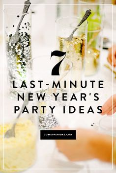 Ring in the new year with cheer, even if it's last minute!