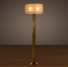French Column Glass Floor Lamp   Restoration Hardware $355 + Shade |  P Family Room | Pinterest | Floor Lamp, Restoration Hardware And Columns