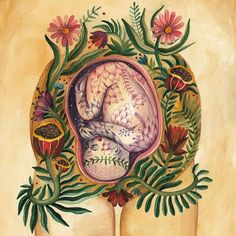 The womb is not a place to store fear or pain. The womb is to create and give birth to life. May we humbly stand with a lineage of powerful women as sacred womb keepers. Grateful to the sister who passed me this rite, thankyou for this healing truth. Art And Illustration, Arte Com Grey's Anatomy, Anatomy Art, Human Anatomy, Birth Art, Pregnancy Art, Sacred Feminine, Doula, Art Plastique