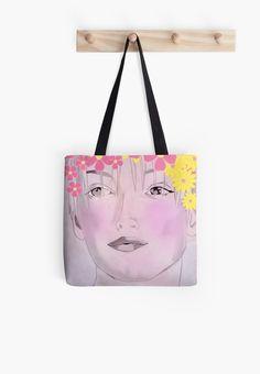 """Floral Garland"" - TOTE BAG by MANANA11"