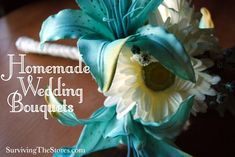 How to make your own wedding bouquets. It's so easy and can be much less expensive!!