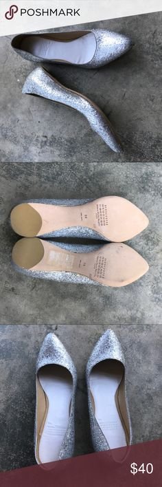 Maison Martin Margiela for H&M Glitter flats 9 Never worn floor sample. Very good condition without box. Size 39 Maison Martin Margiela for H&M Shoes Flats & Loafers
