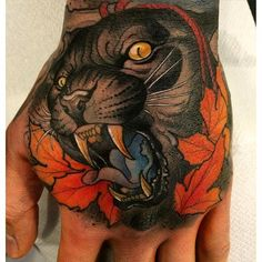 Neo-Traditional Panther Tattoo by Håkan Hävermark