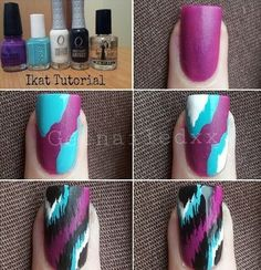 Cute and easy nail art.