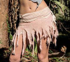Mini Wrap Skirt Gypsy Rag Skirt Pixie Clothing Elven Skirt | Etsy