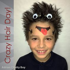 50 (Easy) Crazy Hair Day Ideas For School Boys With Short Hair - Hair Styles For School Crazy Hair Day Boy, Crazy Hair For Kids, Crazy Hair Day At School, Crazy Hat Day, Wacky Hair Days, Crazy Socks, Monster Party, Halloween Kostüm, Boy Hairstyles