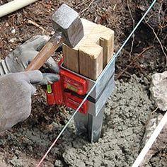 scellement de poteau de clôture