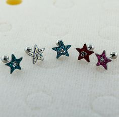Hey, I found this really awesome Etsy listing at https://www.etsy.com/listing/221582379/multi-crystal-stone-star-top-tragus